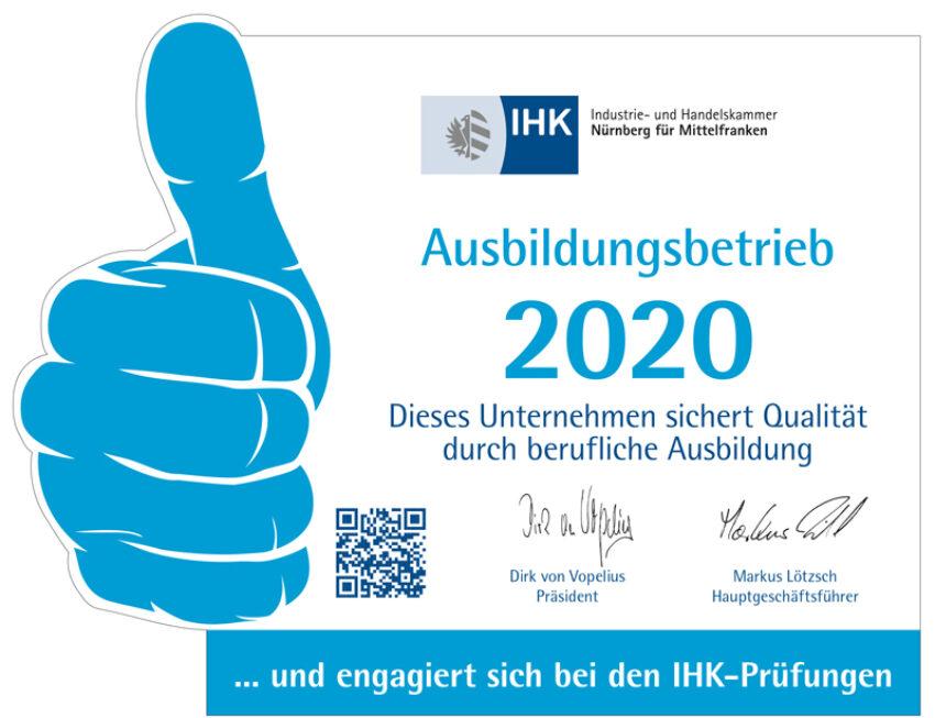 IHK-Ausbildungsbetrieb 2020